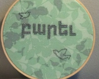 Parev (Hello)- Armenian Language Embroidery Hoop Art