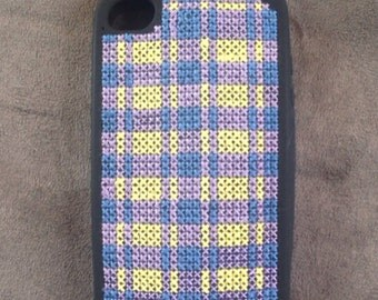 Cross stitched 4s Iphone case