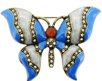 Blue Butterfly Pin Brooch 1002681