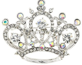 Crystal Crown Pin Brooch and Pendant 1003202