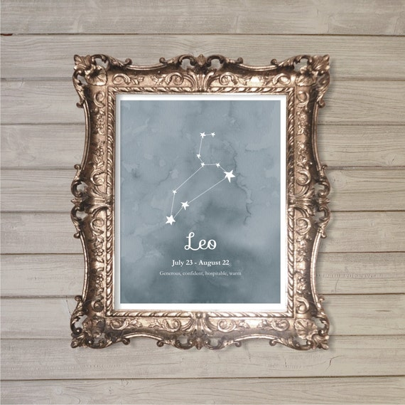 Leo Zodiac Constellation 8x10