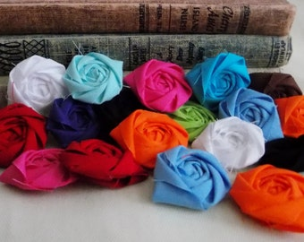 Headband flowers, Flowers Wholesale, fabric flowers bulk, cotton flowers, rolled rosettes, flowers for crafts