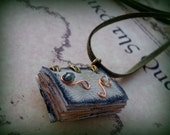 Elven Magic  Mini Book Necklace  by Dryw on Etsy