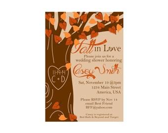 Fall in Love Wedding Shower Invitation