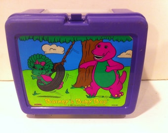 Vintage 1992 Barney and Baby Bop Lunchbox