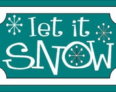 Let it Snow Decal for Soap and Lotion Dispensers - Vinyl Wall Art, Graphics, Lettering, Decals, Stickers