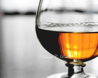 SALE-Masculine Wall Decor-Bourbon Wall Decor-Still Life Photo-Fine Art Print-Amber-Copper-Black-White-Whiskey-Study/Office/Bar Wall Decor