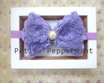 Lavender Baby Headband, Baby Bow Headband, Baby Head Band, Baby Hair Bow, Toddler Headband, Little Girl Headband, Infant Headband