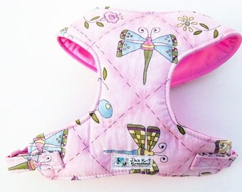 Butterfly Comfort Soft Dog Harness. - Made to order -