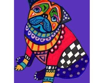 60% Off- Pug Art Print (HG790)