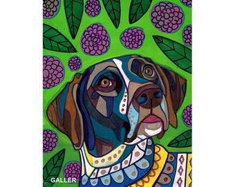 60% Off- GSP German Shorthaired Pointer Art Dog  Art Print Poster by Heather Galler (Hg505)