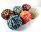 Wool Dryer Balls - Old Fashioned Swirl - Set of 6 Eco Friendly - Can be Scented or Unscented