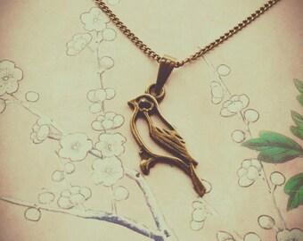 Little Bird Charm Necklace