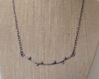 Buds necklace III- handmade pendant, sterling silver, earthy organic, oxidized silver, handmade jewelry