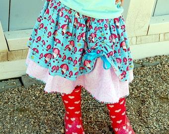 Twirl ScAlloP  Skirt - Pdf Tutorial - ebook -3M - 12Y
