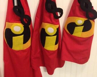 Incredibles cape, kids cape, superhero cape, cape, birthday gift for kids
