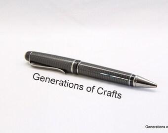 Handmade Pen - Carbon Fiber Pen - Nascar Gift - Ballpoint Wedding Pen - Gift for Dad ** BP 039 **