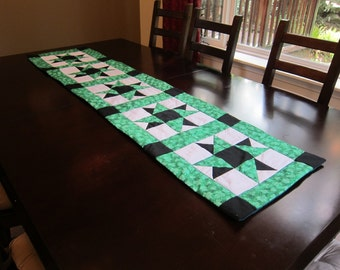 Shamrock Table Runner- QuiltsbyShirley