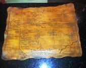 Leather Map of Thorin Oakenshield inspired by The Hobbit, Hand Made