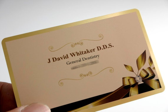 200 business cards clear gold silver border by printforbrands for 200 business cards