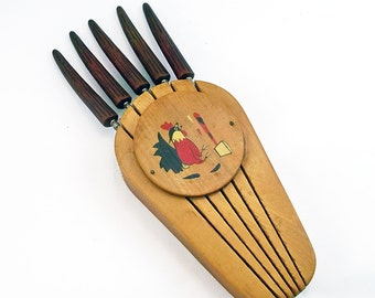 Mid Century Kistch Wall-Mounted Steak Knife Set