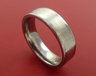 Platinum and Titanium Wedding Ring Custom Made Band Any Finish and Sizing from 3-22