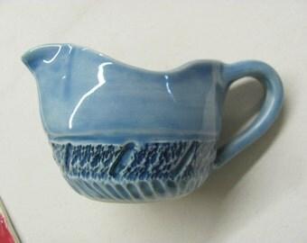 Pitcher Handmade Ceramics Kitchen Pottery Country Style Gravey Boat Chattered Pottery