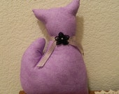 Stuffed Primitive Purple Kitty Cat