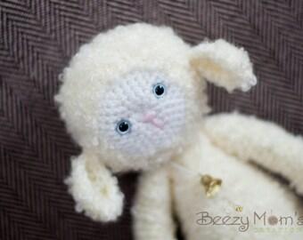 """Download PDF crochet pattern 14 - """"Yaya"""" the lamb"""