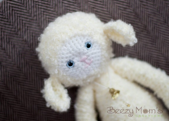 "Download PDF crochet pattern 14 - ""Yaya"" the lamb"