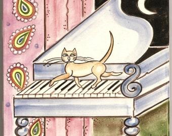Cat Art Tile