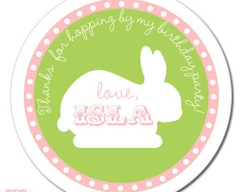 Bunny Party #Stickers, Gift #Tags OR Cupcake #Toppers