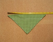 Small Dog Bandana Green Background with Brown Polka Dots*