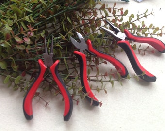 3pcs Plier Set for wire, beading and jewelry making - approx. 5 inches long each