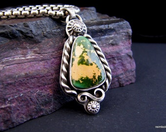 Forest Green Royston Turquoise Sterling Pendant