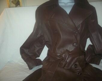 Ladies trench  coat  pure Leather