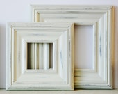 Picture Frame / Vintage White or Blue / Whistler Style / Sizes 8x10 to 12x12