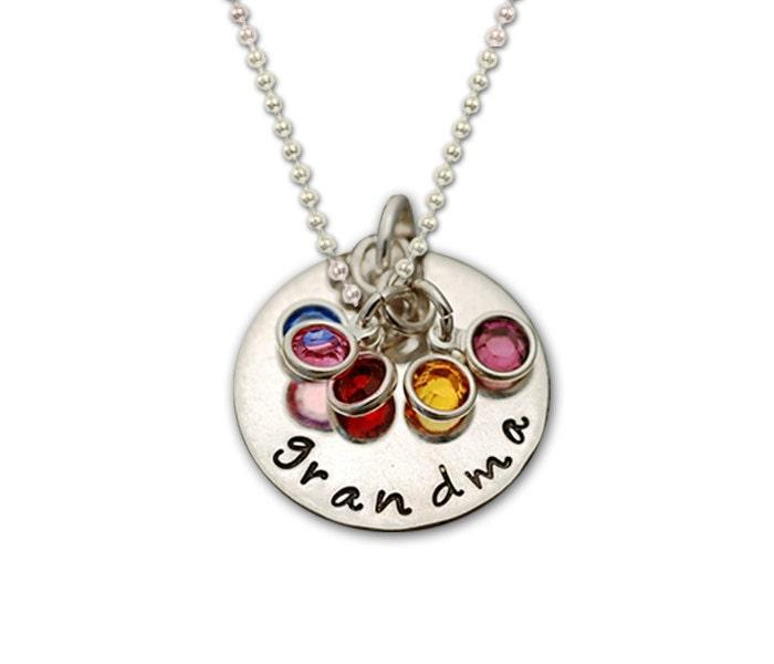 Grandmother necklace grandma necklace silver grandmother for Grandmother jewelry you can add to