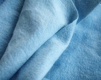 FELTED  SCARF Shades of Blue Thin Simple Pure Wool