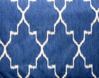 MONACO COBALT designer, drapery/bedding/upholstery ikat fabric