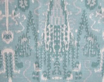 BOMBAY MIST designer, drapery/bedding/upholstery ikat fabric