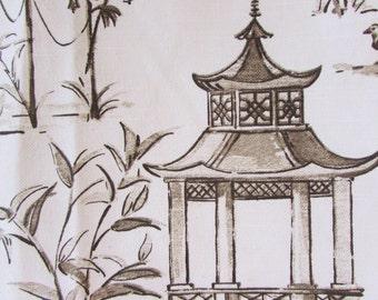 PAGODAS  CAFE designer, drapery/bedding/upholstery fabric