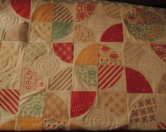 Sunflower Quilt Pattern Tutorial with photos, PDF,  EASY to Make, Instant Download, Use Layer Cakes