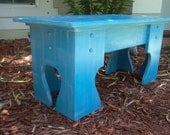 Wooden Bench, Vanity Seat, Desk Chair, Extra Seating, You Choose Colors