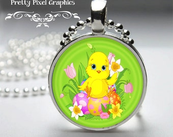 INSTANT DOWNLOAD-Bottlecap 1 inch circle Easter Chicks
