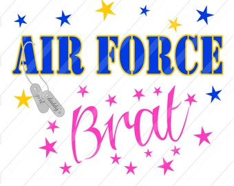 INSTANT DOWNLOAD-DIY Iron On Transfer - Air Force Brat