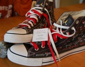 Actuary Science Converse High Top Converse with Math  Equations