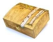 Personalized Aspen Trees Large Wooden Box - Gift Card Box Wedding Decoration Wedding Box