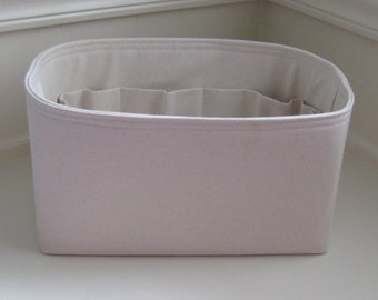 """WATER RESISTANT Natural Canvas ..Purse ORGANIZER Insert Purse Shaper . .Strong/Durable - 8 Medium sizes (4"""" to 5"""" Width/Depth)"""