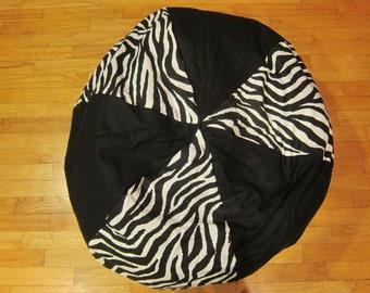 Zebra Bean Bag Chair Cover, Black and White, Stripes, Stripe,  Etsy Kids, Gifts Under 75